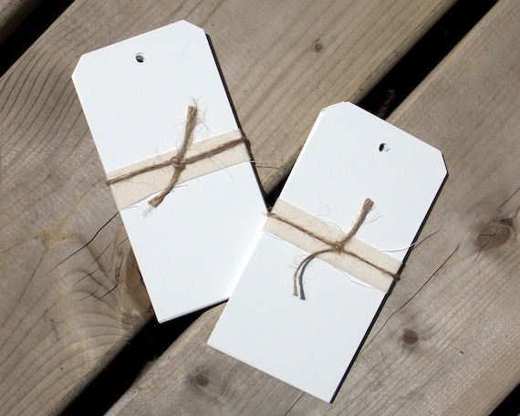 Tag Blanks - Heavy Weight Cardstock - Art Supplies - Tag Art - White - Matte - Glossy - Mixed Media - Set of 20