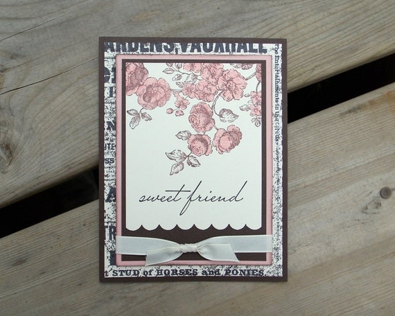 Any Occasion Card - Handmade Greeting Card - Stamped - Card for Friend - Friendship - Birthday - Stampin Up