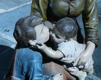 Rare large terracotta Sculpture Signed J. Le Guluche