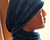 Wool Cowl Scarf and Snood infinity Soft, Cuddly and cozy in gray-blue color mix