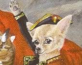Chihuahua Napoleon 8x10 poster