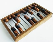 """Vintage Wooden Abacus - Russian Soviet calculator (12,6"""" x 7,9"""")"""