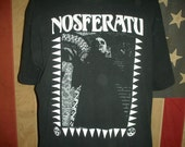 Vintage 80s Nosferatu vampire horror t shirt Dracula