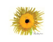 Sale - 10 Sunflower  Blank Note cards