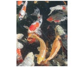 Sale - 10 Koi Blank Note Cards