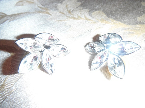 rhinestone costume earrings of the 40's.  Matches brooch in my store.