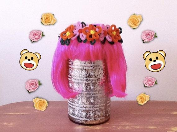 pipe cleaner flower crown