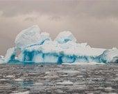Fantastic and uniquely blue iceberg   (Antarctica) - 8x12 lustre print