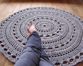 CUSTOM ORDER for Kate handmade chunky crochet mega doily rug- navy color