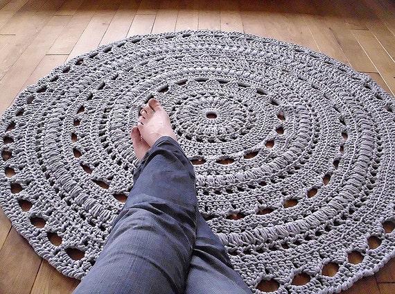 CUSTOM ORDER for Kate handmade chunky crochet mega doily rug- navy color