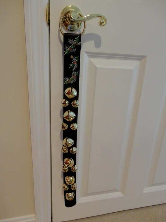 16 Bell Leather Door Strap with Brass Plated Bells