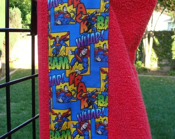 Superman Comic Children's Hooded Bath Towel, Made in the USA