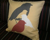 SALE - Graphic Bird Pillow designed by Pocono Modern