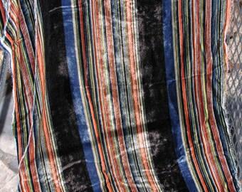 No. 400 Vintage (1950) 100% Striped Silk Velvet Fabric