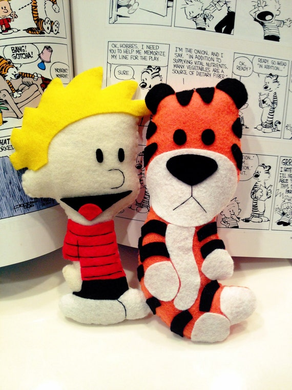 LARGE Calvin and Hobbes Felties