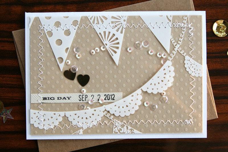 personalized handmade wedding congratulations card big day