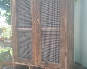 barnwood liquor cabinet