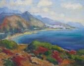 """oil painting Crete bay canvas mediterranean original """"Greek Bay"""" by Thomas Stellmacher"""