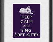 Keep Calm and Sing Soft Kitty Big Bang Theory Art Print 8x10 Poster or A4 Sign P69