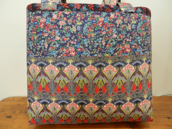 CARTER JONES Liberty of London fabric totebag/ can make in 48 hours