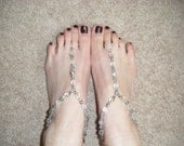 Clear Small Crystal Barefoot Sandals