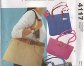 McCall's Fashion Accessories Sewing Pattern 4117 - Handbags (Hold for B. Perry)