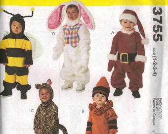 McCall's Costume Sewing Pattern 3755 - Toddler Costumes (1-4)
