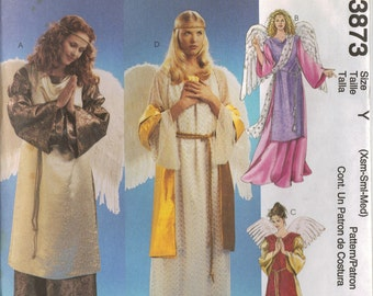 McCall's Costume Sewing Pattern 3873 - Misses Angel Costume (XS-M or L-XL)