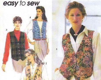 Simplicity Sewing Pattern 9279 - Misses Lined Vests (14-20)