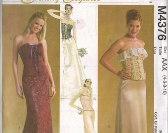 """McCall's """"Evening Elegance"""" Sewing Pattern M4376 - Misses' Lined Tops & Skirts (4-10)"""