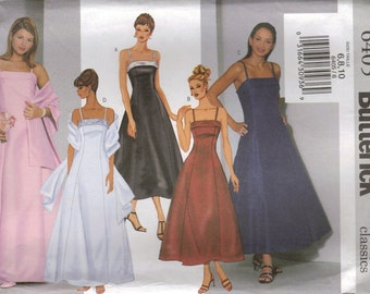 Butterick Sewing Pattern 6405 - Misses' Dress and Stole (6-10, 12-16, 18-22)