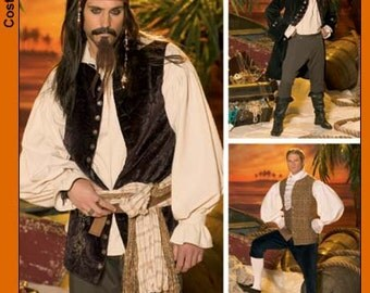 Simplicity Costume Sewing Pattern 0508 (aka 4923) - Men's Pirates of the Caribbean Costumes (XS-M)