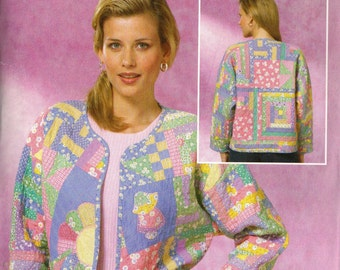 Butterick Sewing Pattern BP176: Misses' Quilted Jacket (XS-M)