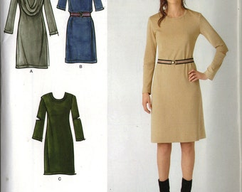 Simplicity Sewing Pattern 0404 (aka 2054) - Misses' Knit Dress and Cowl-Collar (6-14 or 14-22)