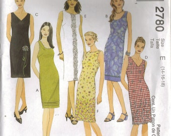 "McCall's Sewing Pattern 2780 - ""Easy McCall's"" Misses' Dresses (8-12, 10-14, 12-16, 14-18, 18-22)"
