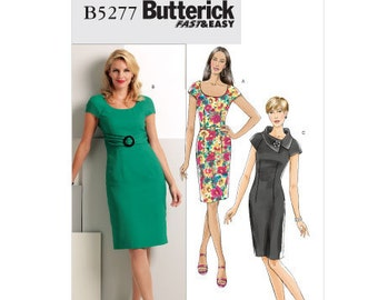 Butterick Sewing Pattern B5277 - Misses' Dress and Belt (14-22)