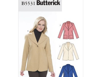 Butterick Sewing Pattern B5531 - Misses' Jacket (8-14, 16-22)