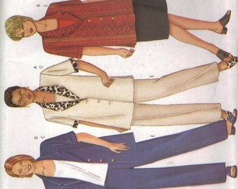 Butterick Sewing Pattern 6552 - Women's Top, Skirt and Pants (16w-20w)