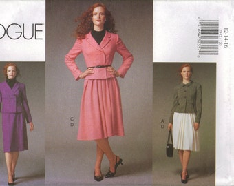 Vogue Sewing Pattern 7342 - Misses' Jacket & Skirt (6-10, 12-16, 18-22)