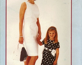 Vogue Sewing Pattern 913 - Mother/Daughter Dresses (2-6x/8-18)