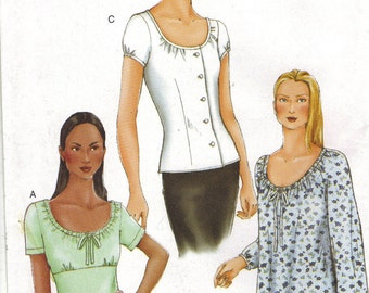 Vogue Sewing Pattern 7278 - Misses' Blouse (6-10)