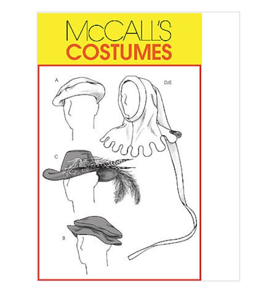 McCall's Costume Sewing Pattern M4805 - Men's Medieval & Renaissance Hats
