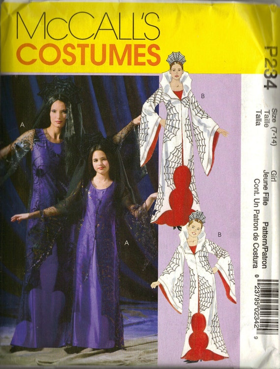 McCall's Costume Sewing Pattern P234 - Misses'/Girl's Spider Woman/Vampiress (7-14)