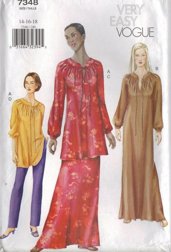 Vogue Sewing Pattern 7348 - Misses' Caftan, Tunic, Skirt & Pants (20-24)