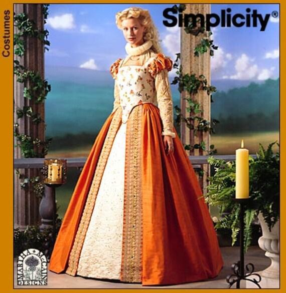 Simplicity Costume Sewing Pattern 8881 - Misses' Elizabethan Dress (14-20)