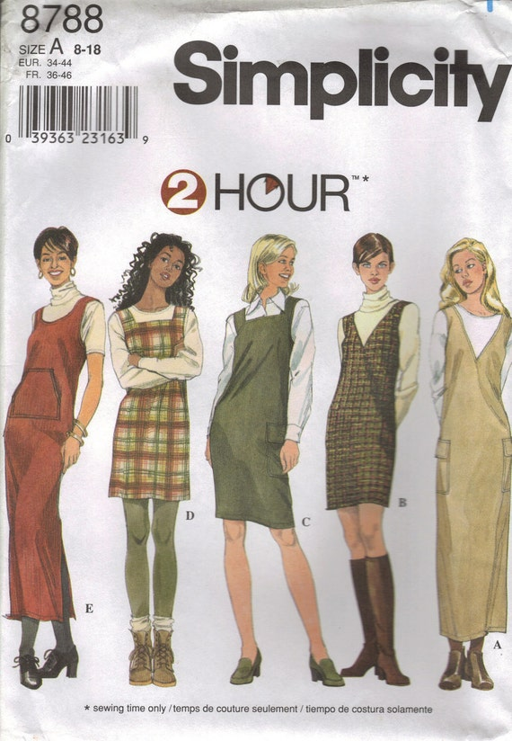 Simplicity Sewing Pattern 8788 - Misses' Jumper (8-18)