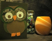 Earth Tone, Paper Owl Card - blank inside