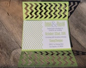 Modern Chevron Gate Fold Invitation