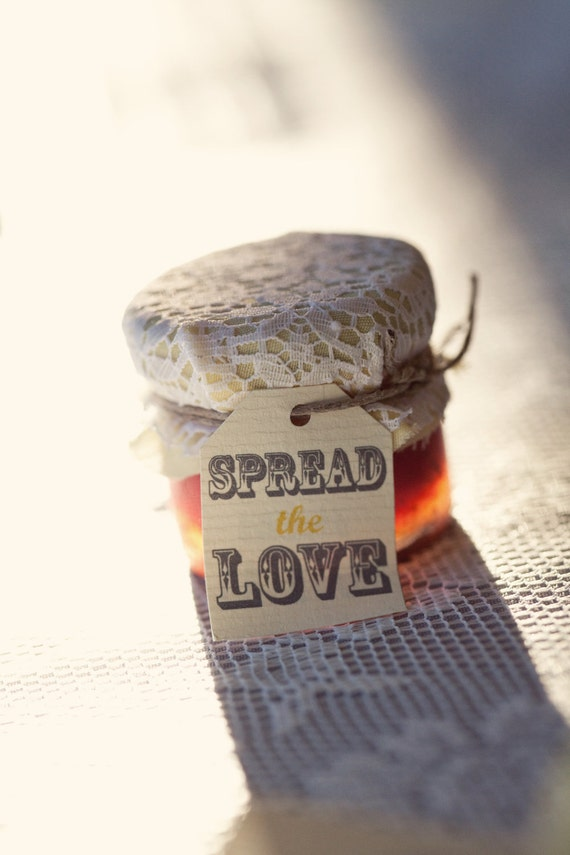 """Personalized Wedding Favor tags """"Spread the Love"""""""