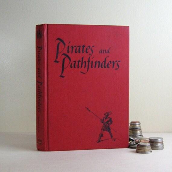 Red Secret Book Safe - Pirates School Book - Jewelry Hidden Treasure Box